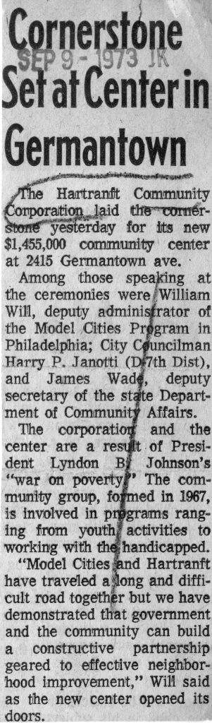 1973: Cornerstone for Rec Center is Set